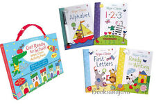 Usborne Get Ready for School Wipe-Clean Activity Pack: ABC, 123, Writing,Letters