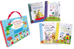 Get Ready for School Wipe-Clean Activity Pack: ABC, 123,Letters...FREE ship $35