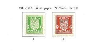 Jersey 1941-42 Occupation set mint
