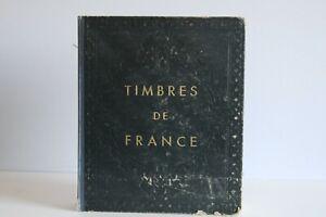 Collection de timbres de France 1876 à 1959 dans un classeur Yvert et Tellier