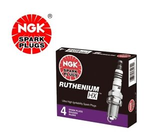 NGK RUTHENIUM HX Spark Plugs LFER7BHX 95125 Set of 4