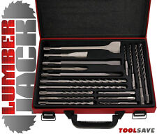 LUMBERJACK commercio 17Pc SDS Plus Trapano & Scalpello Set in Metallo Custodia