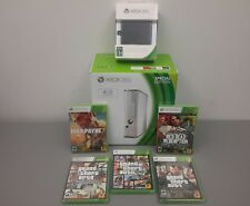BRAND NEW *Microsoft Xbox 360 4GB Glossy White Console Bundle + 500GB HD + Games