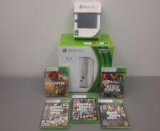 BRAND NEW *Microsoft Xbox 360 4GB Glossy White Console Bundle + 500GB HD + Games