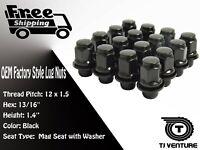 24PCS OEM  MAG LUG NUTS BLACK 12X1.5 FITS TOYOTA LEXUS SCION MAG SEAT WHEEL