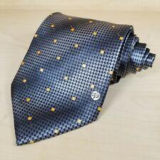 "Versace Classic V2 Necktie 3-7/8""x58"" Wide Silver Gray Logo 100% Silk Hand Made"