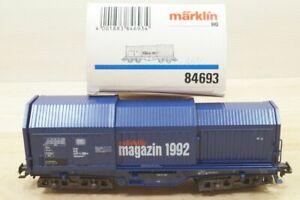 Ho Märklin 84693 Hooded-Cover Blue With Papier-Rollen Märklin Magazine 1992