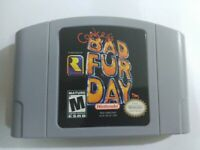 Conkers Conker's Bad Fur Day For 64 Bit Game Cartridge USA Version NTSC Format