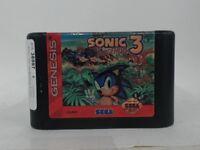 SONIC THE HEDGEHOG 3 Sega Genesis Scratched