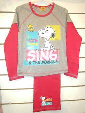 SNOOPY cantare Grigio E Rosa Ragazze Pigiama di età compresa tra 5-6 anni maniche lunghe e gambe
