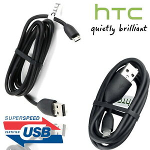Genuine HTC Micro USB Charger Cable Data Lead for ONE M9, M8 DESIRE 510,610,820