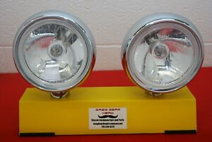 """7"""" Round Replica Cibie Oscar Driving Spot Lights PAIR Rally Classic Clear"""