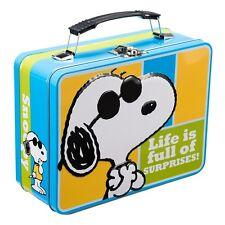 Peanuts Snoopy Joe Cool Large Tin Tote