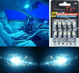 LED 3030 Light Icy Blue 8000K 168 Ten Bulbs Interior Dome Replacement Lamp Fit