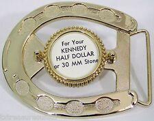BELT BUCKLES western accessories 1/2 $ HALF DOLLAR COIN HORSESHOE buckle NWOT!
