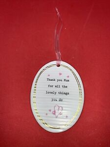 Thoughtful Words Mothers Thank You Mum Hanging Plaque