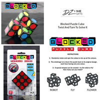 D Zine Blocked Puzzle Cube Brain Teaser Twist And Turn To Solve Activity Game