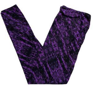Lularoe OS Halloween Leggings Purple Black Tie dye  2021 Witch Please