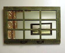 "Reclaimed Barn Wood 33.25"" x 23.5"" 9 Pane Horizontal Homesteader Window Mirror"
