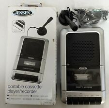 Jensen Cassette Player Recorder W/ External Microphone, Stand and Adapter