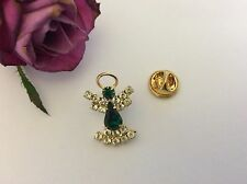 Modeschmuck-Broschen & -Anstecknadeln aus Kristall mit Smaragd
