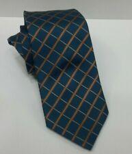Cravatta Uomo Lancetti blu/marrone  Pura Seta 100%