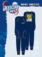 West Coast Eagles AFL Mens Adult Navy Printed Cotton Onesie Pyjama Size M New