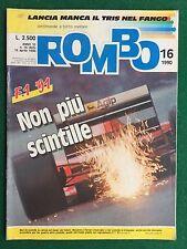Rivista/Magazine ROMBO n.16/1990 (ITA) RALLY SAFARI BMW M3 SPORT EVOLUTION
