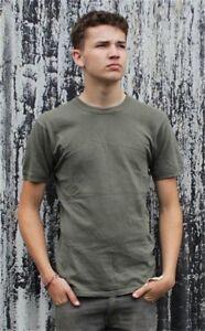 Genuine Army Surplus Austrian T-Shirt Cotton Olive Green Grey Vintage