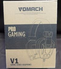 Vomach V1 Pro Gaming over Ear Stereo Headphones (Blue) (Ad386)