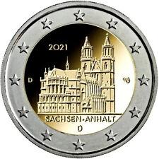 5 x 2 Euro Gedenkmünzen A D F G J  Deutschland 2021 Sachsen Anhalt