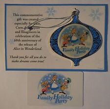 Disney WDI Alice Family Holiday Party 2011 Ornaments New