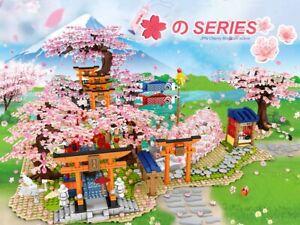 Mattoncini - Building Blocks Bricks - Japan Sakura Torii View - Cherry Blossom