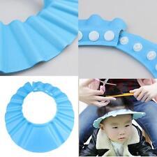Adjustable Shower Cap Baby Kids Child Bath Shampoo Shiled Hat Wash Hair Blue #D