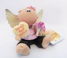 Angel Cheeks World's Best Mother Figurine With Tag And Free Gift Bag New