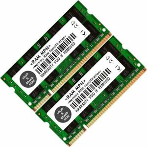 Memory Ram 4 Dell Latitude Laptop 6400 6500 E5400 E5500 E6400 ATG 2x Lot