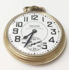 Waltham 1908 Vanguard Vintage Wind Up Open Face Pocket Watch 23Jewels Size 16s