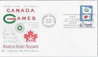 Canada FDC 1969 6¢ Canada Games, Rosecraft Cachet, Unaddressed - Sc 500