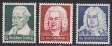 Deutsches Reich 1935 Mi.Nr. 573-75 ** postfrisch Schütz - Bach -Händel tadellos