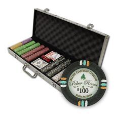 New 500 Bluff Canyon 13.5g Clay Poker Chips Set with Aluminum Case - Pick Chips!