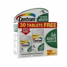 Centrum Adults Under 50 Multivitamins Bonus Size, Tablets 130 ea (Pack of 4)