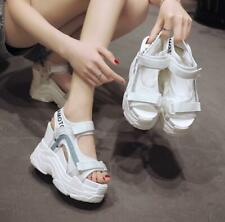 Women 11CM High Wedge Heel Platform Creepers Hollow Out Sandals Casual Shoes New