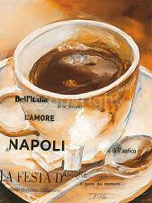 Elizabeth Espin: Bell'Italia Cafe Küche Fertig-Bild 30x40 Wandbild Kaffee Deko