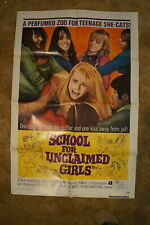 SCHOOL FOR UNCLAIMED GIRLS  BAD GIRL  HORROR  ONE SHEET 1973