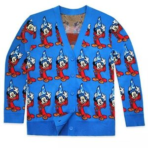 Disney Store Mickey Mouse Fantasia Cardigan Sweater Adults 80th Anniversary NEW