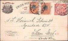 PERU, 1920. Post Card  H&G 54, 209 (2), Lima - San Jose, Costa Rica