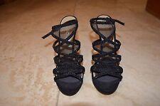 Women's black diamante and mesh Aldo heels UK size 5