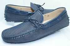 New Tod's Men's Blue Shoes Lace Mocassin Drivers Size 8.5 Loafers