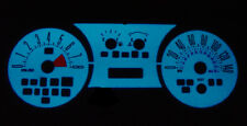 2005-2009 Ford Mustang GT 140MPH Blue / Green Glow Gauge Face Overlay
