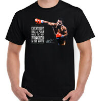 Mike Tyson T-Shirt, Mens Boxing Everyone Has a Plan Iron Boxer Gym Unisex Top